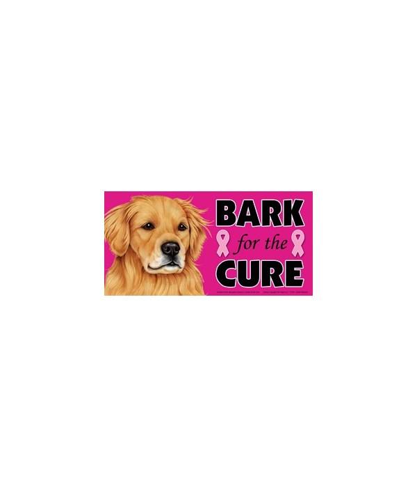 Bark for the Cure Golden Retriever  4x8