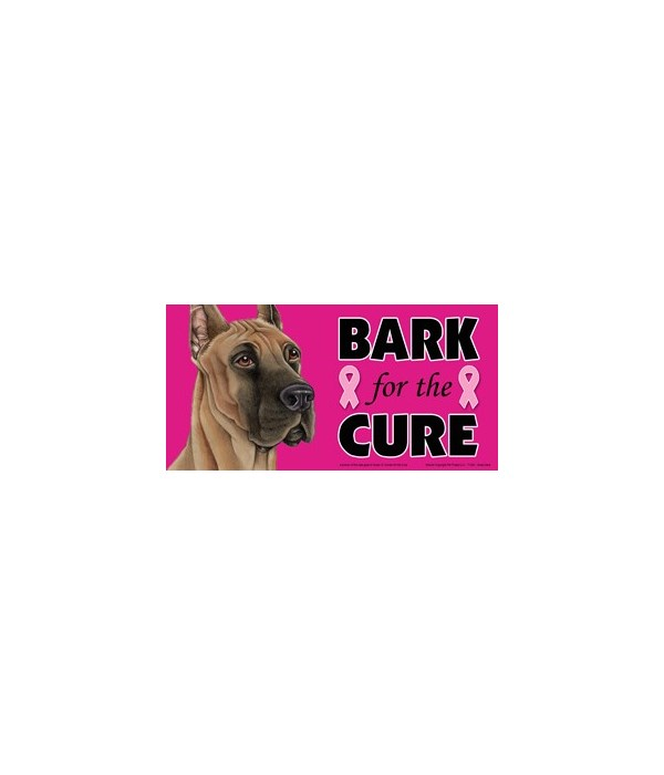 Bark for the Cure Great Dane  4x8 Car Ma