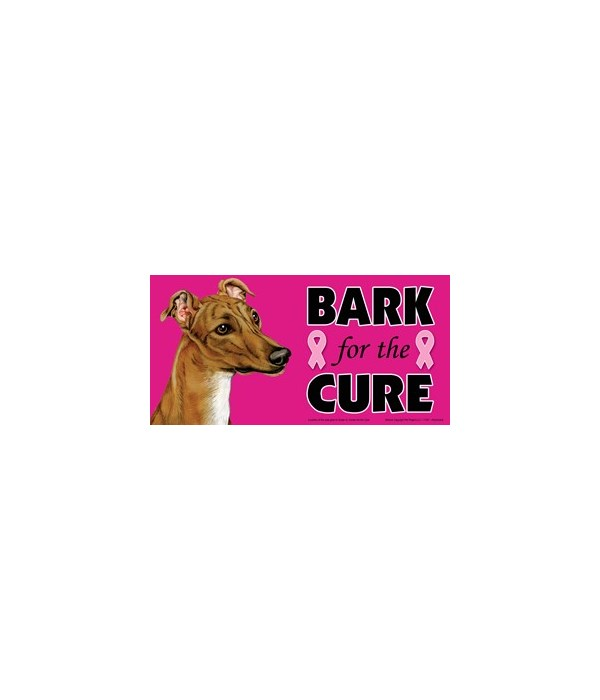 Bark for the Cure Greyhound (Brown) 4x8