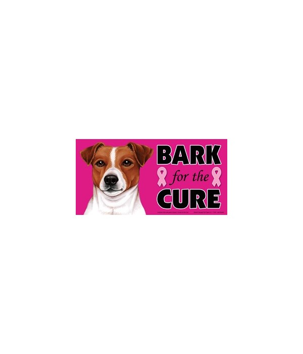 Bark for the Cure Jack Russell  4x8 Car