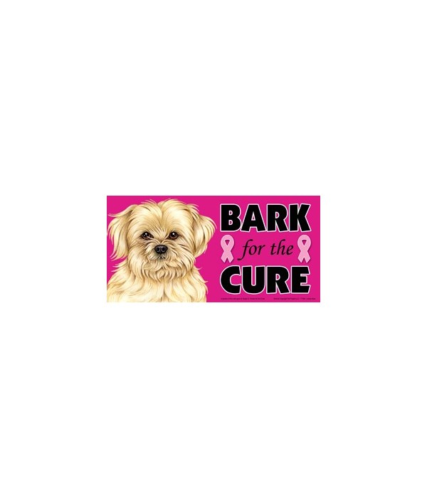 Bark for the Cure Lhasa Apso  4x8 Car Ma