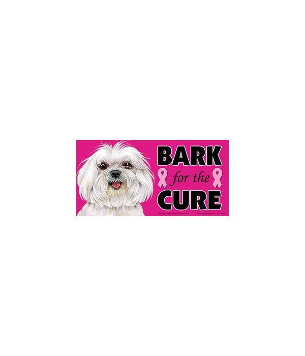 Bark for the Cure Maltese (puppy cut / s