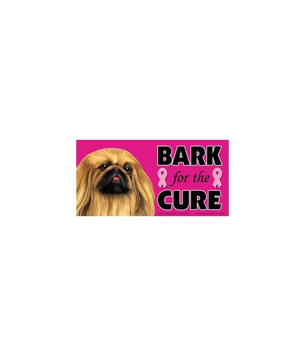 Bark for the Cure Pekingese  4x8 Car Mag