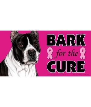 Bark for the Cure Pitbull (Black & white