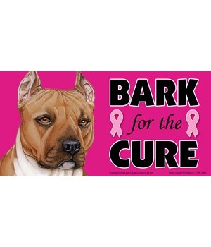 Bark for the Cure Pitbull (Brown) 4x8 Ca