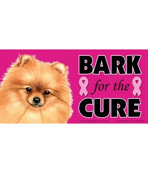 Bark for the Cure Pomeranian  4x8 Car Ma