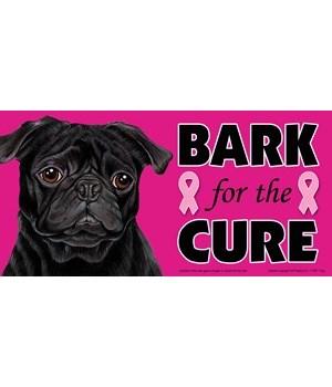 Bark for the Cure Pug (Black) 4x8 Car Ma