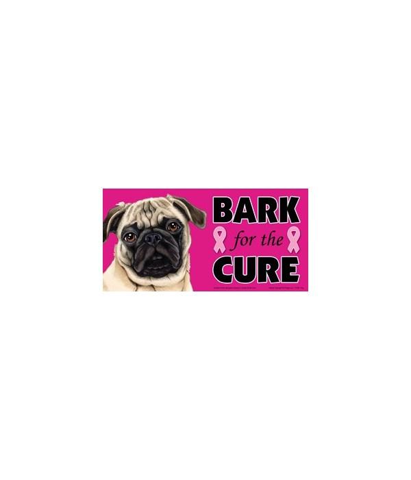 Bark for the Cure Pug (Tan) 4x8 Car Magn