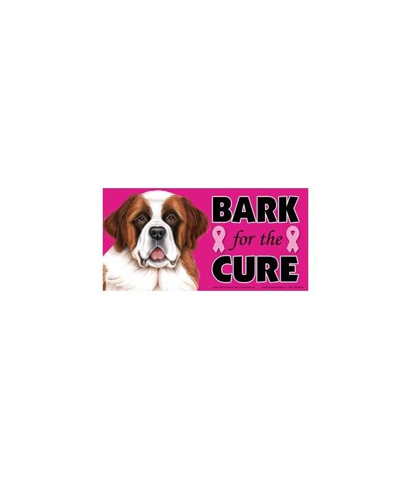 Bark for the Cure Saint Bernard  4x8 Car