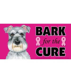 Bark for the Cure Schnauzer  4x8 Car Mag