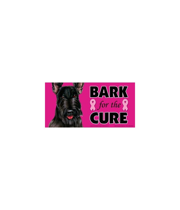 Bark for the Cure Scottish Terrier  4x8