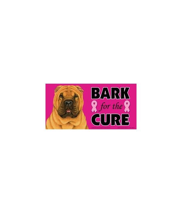 Bark for the Cure Shar Pei  4x8 Car Magn