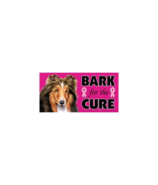 Bark for the Cure Sheltie  4x8 Car Magne