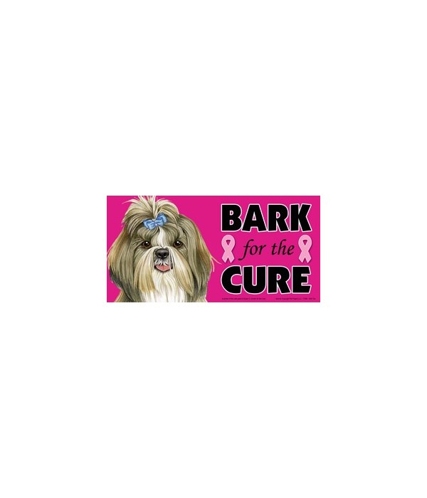 Bark for the Cure Shih Tzu  4x8 Car Magn