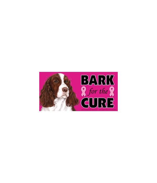 Bark for the Cure Springer Spaniel  4x8