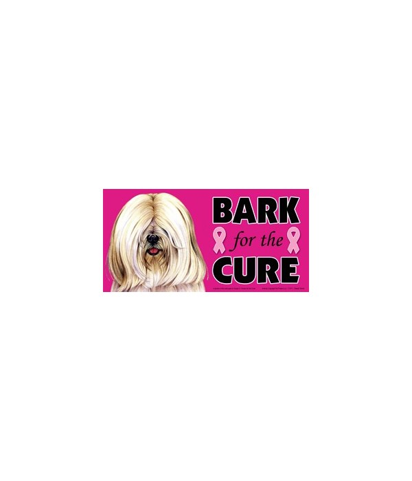 Bark for the Cure Tibetan Terrier (White