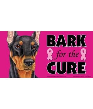 Bark for the Cure Doberman (Black) 4x8 C