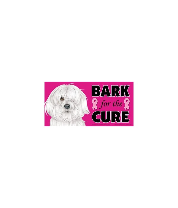 Bark for the Cure Havanese  4x8 Car Magn