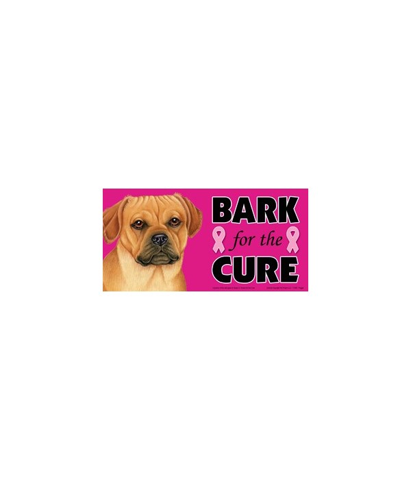 Bark for the Cure Puggle  4x8 Car Magnet