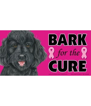 Bark for the Cure Labradoodle (Black) 4x