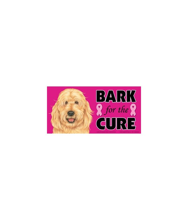 Bark for the Cure Goldendoodle  4x8 Car
