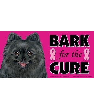 Bark for the Cure Pomeranian (Black) 4x8