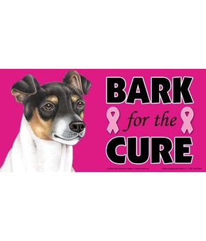 Bark for the Cure Rat Terrier  4x8 Car M