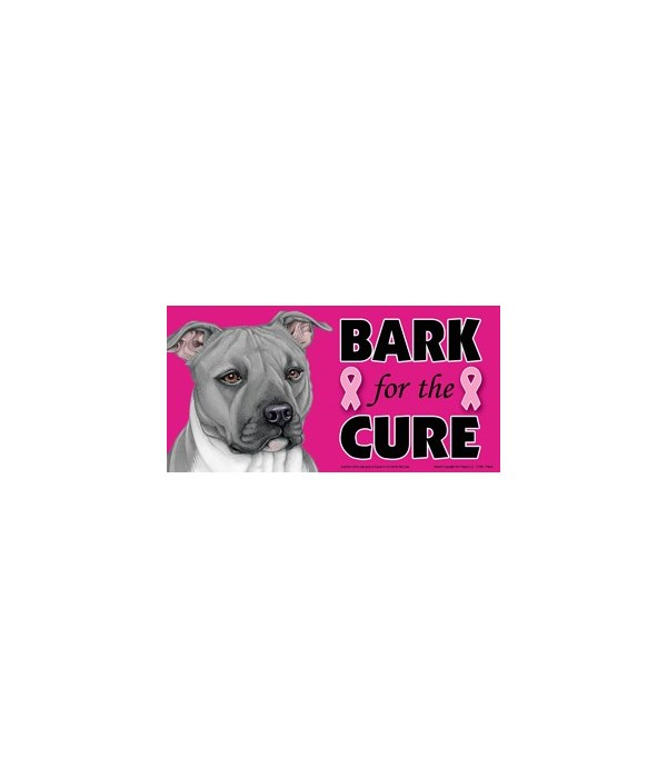 Bark for the Cure Pitbull (Grey) 4x8 Car