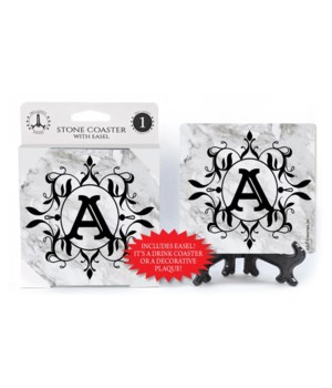 """Lettered Marble Coasters - """"A"""""""