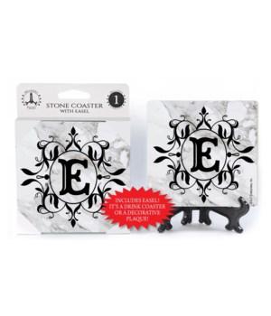 "Lettered Marble Coasters - ""E"""