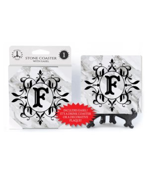 """Lettered Marble Coasters - """"F"""""""