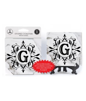 "Lettered Marble Coasters - ""G"""
