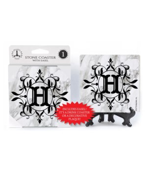 """Lettered Marble Coasters - """"H"""""""