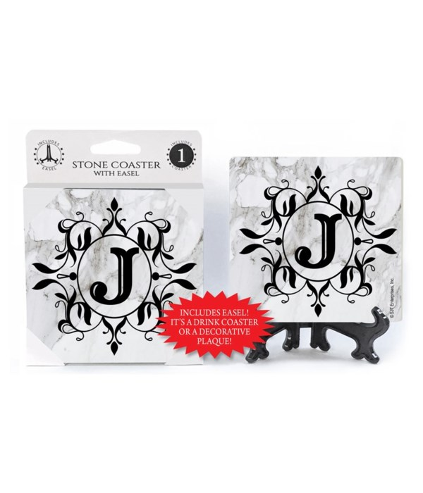 """Lettered Marble Coasters - """"J"""""""