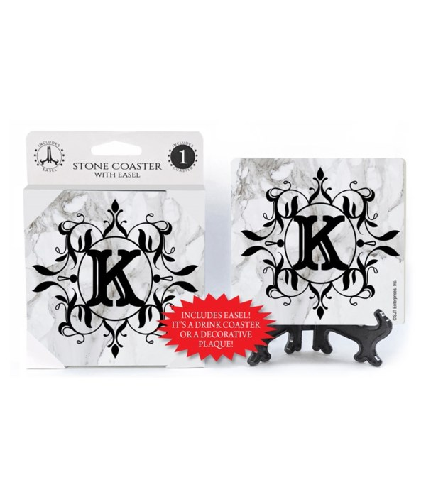 """Lettered Marble Coasters - """"K"""""""