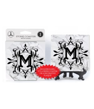 "Lettered Marble Coasters - ""M"""