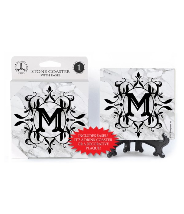 """Lettered Marble Coasters - """"M"""""""
