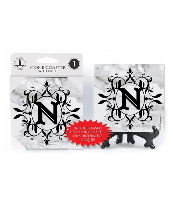 """Lettered Marble Coasters - """"N"""""""