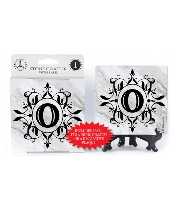 """Lettered Marble Coasters - """"O"""""""