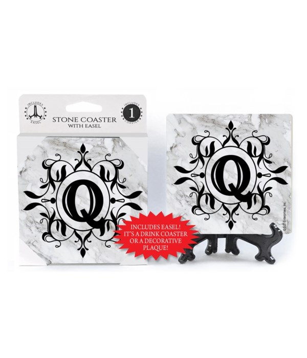 """Lettered Marble Coasters - """"Q"""""""
