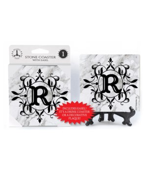 "Lettered Marble Coasters - ""R"""