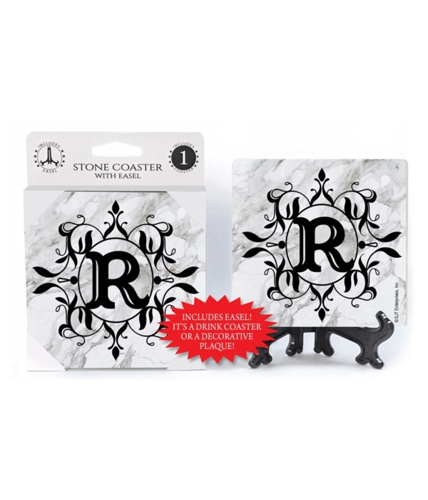 """Lettered Marble Coasters - """"R"""""""