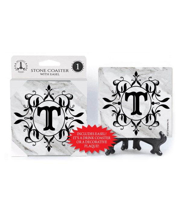 """Lettered Marble Coasters - """"T"""""""
