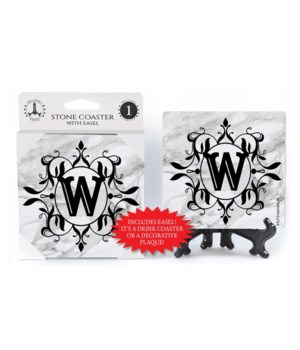 "Lettered Marble Coasters - ""W"""
