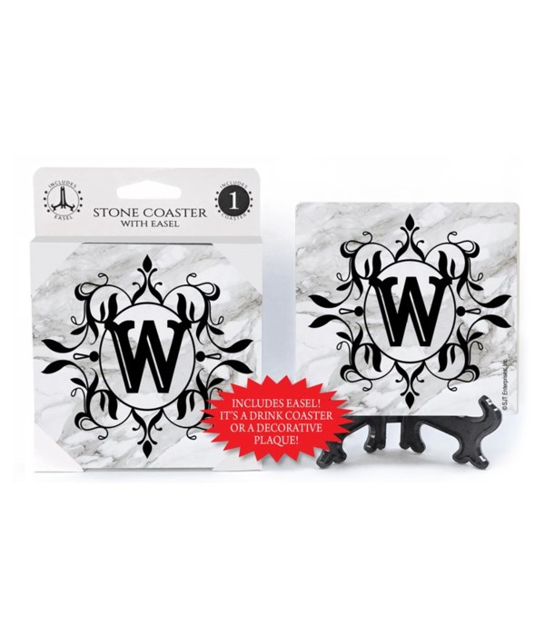 """Lettered Marble Coasters - """"W"""""""