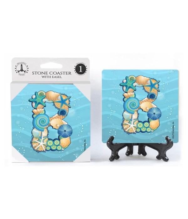 "Lettered Ocean Coasters - ""B"""