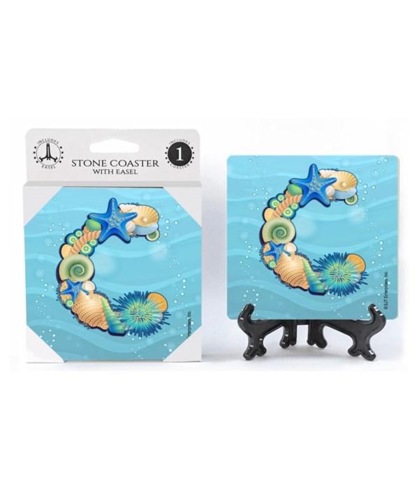 "Lettered Ocean Coasters - ""C"""