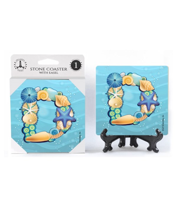 """Lettered Ocean Coasters - """"D"""""""