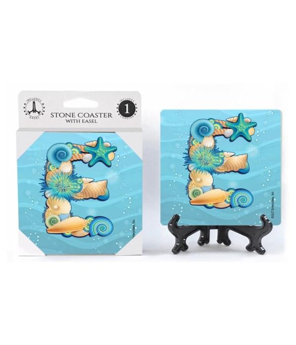 """Lettered Ocean Coasters - """"E"""""""