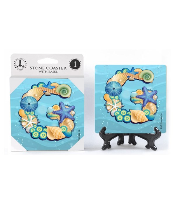 """Lettered Ocean Coasters - """"G"""""""